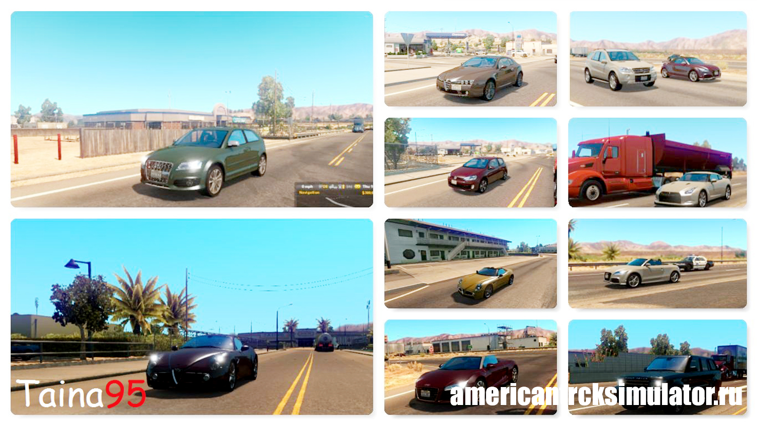 Мод Traffic Pack Mod v0.8 для Amer...