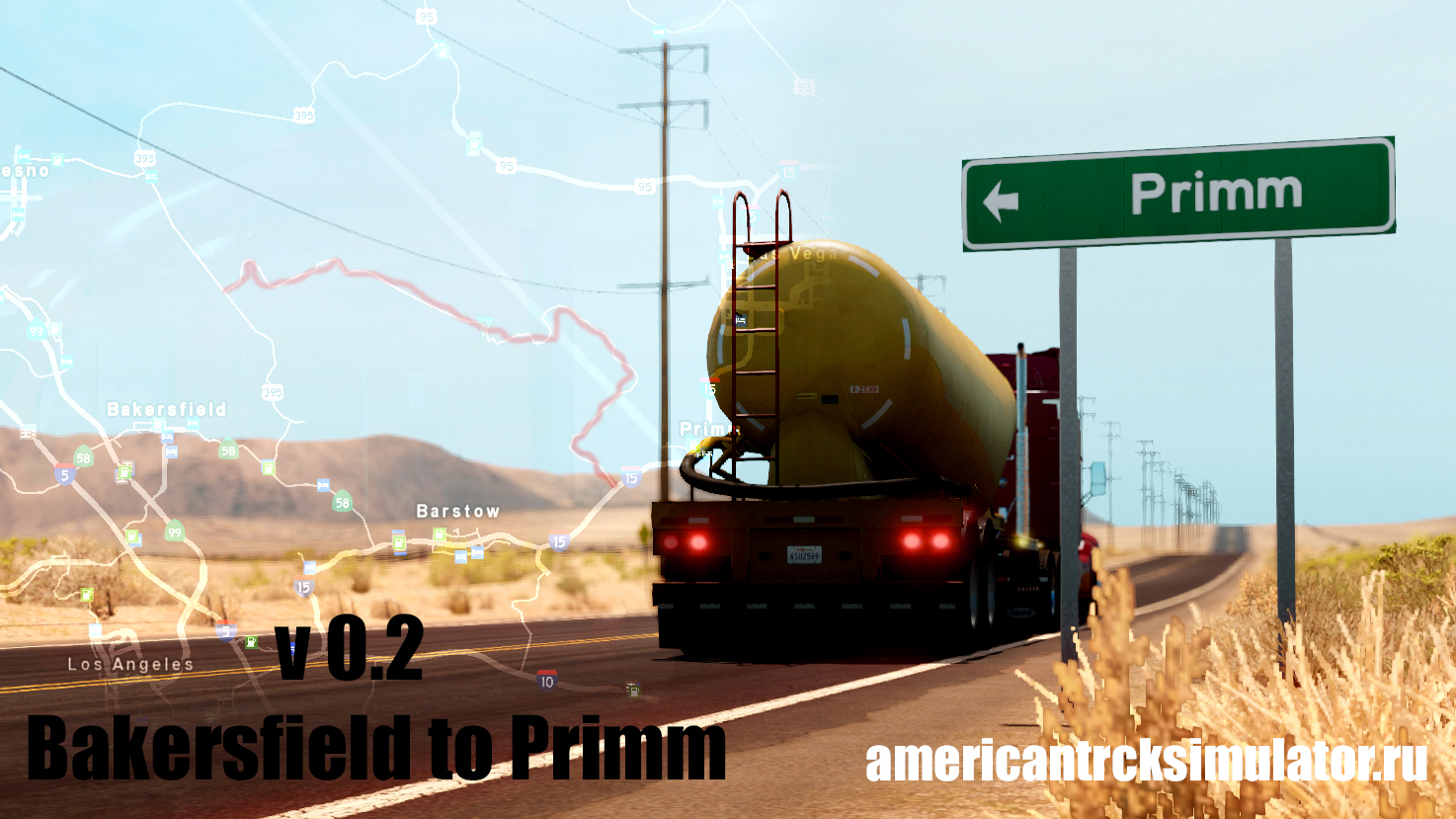 Карта Bakersfield to Primm offroad v 0.2