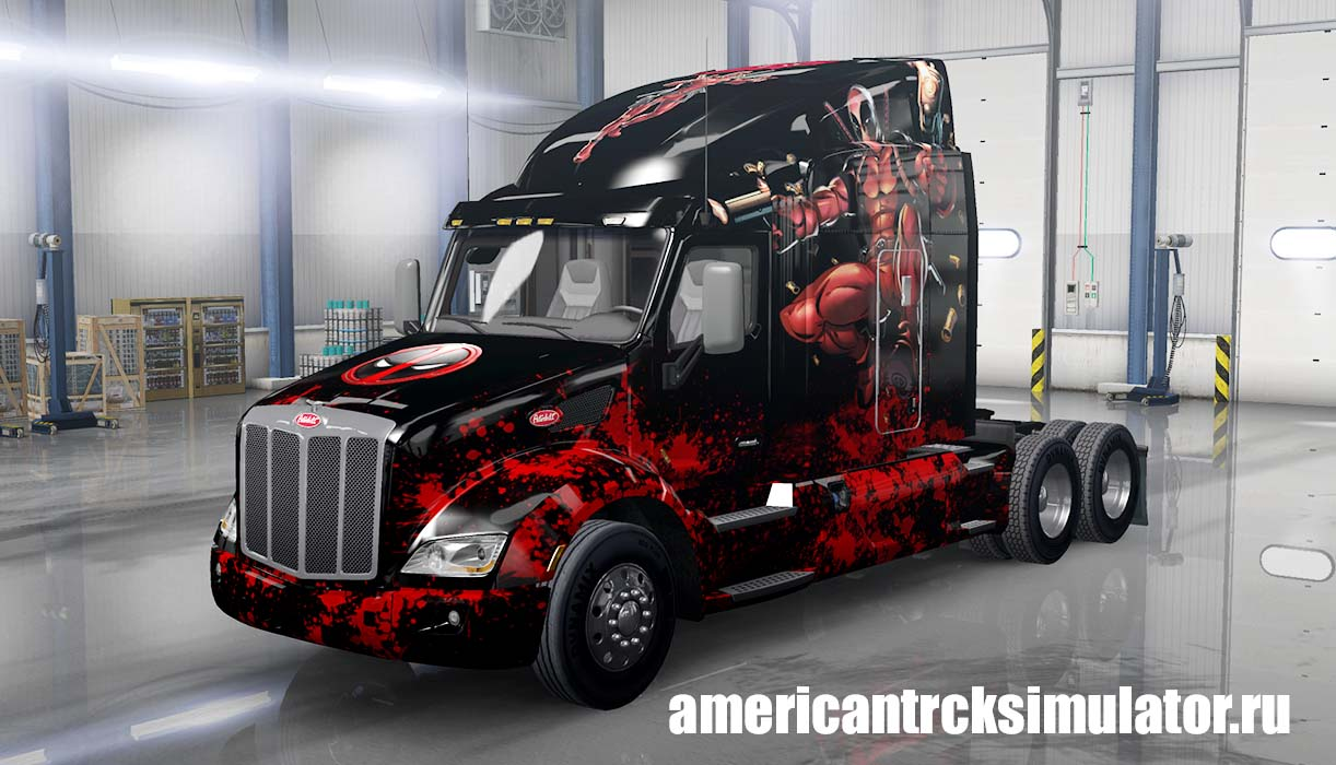 Скин Deadpool Peterbilt 579 для Am...