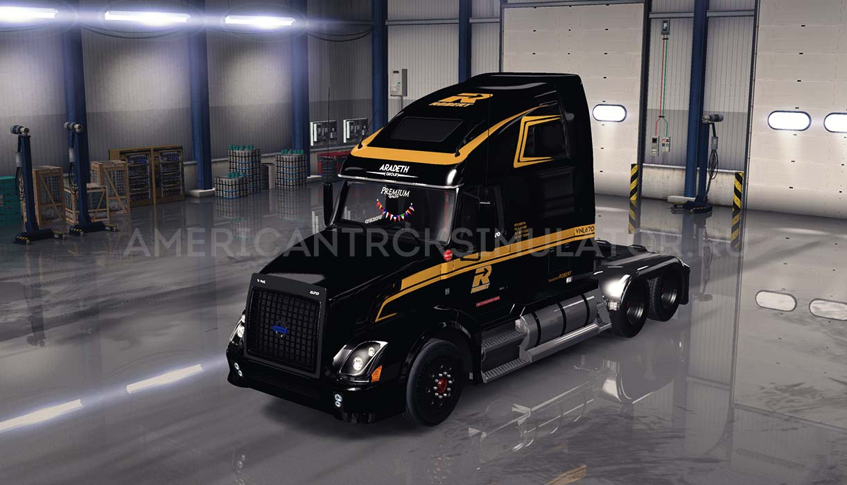 Скин Groupe Robert Black для Volvo VNL 670