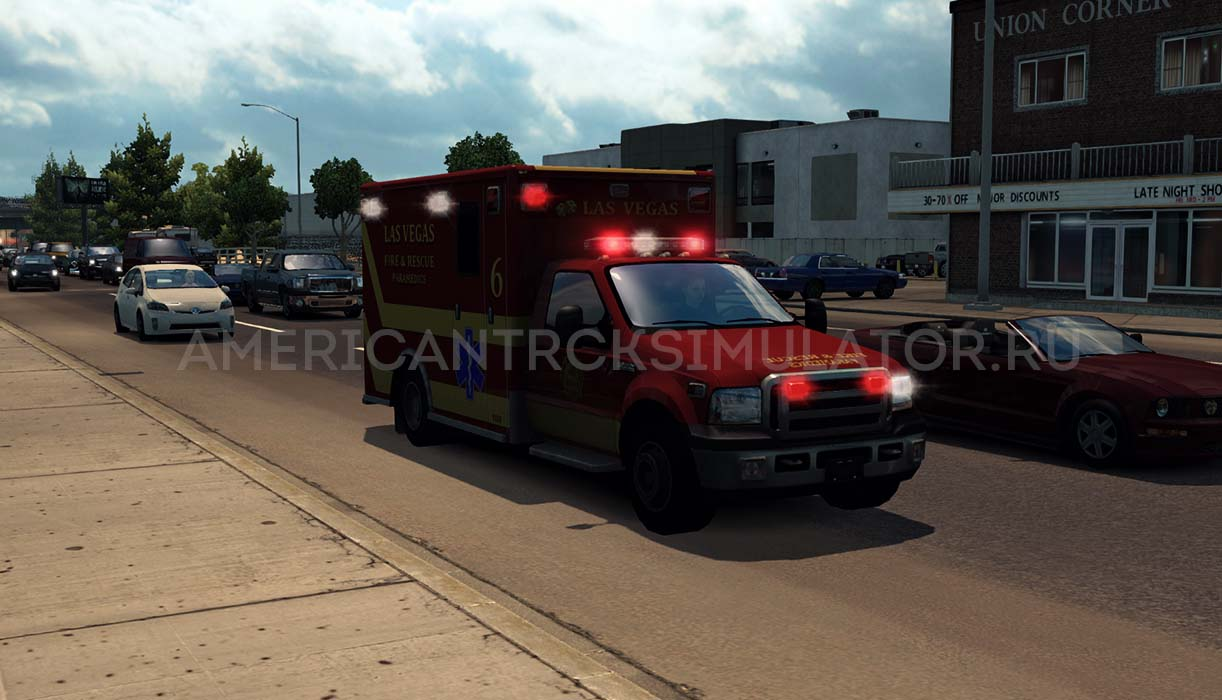 Мод USA Emergency traffic v1.1 для...