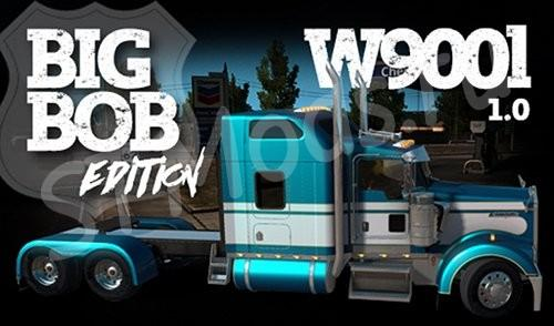 Мод Kenworth W900L Big Bob для Ame...