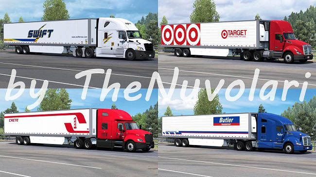 Мод SCS 53ft Trailer Skinpack v1.0 для ATS